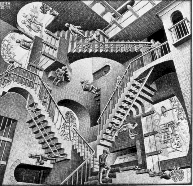 Escher's original relativity