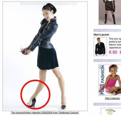 Photoshop fails rubber leg fake money